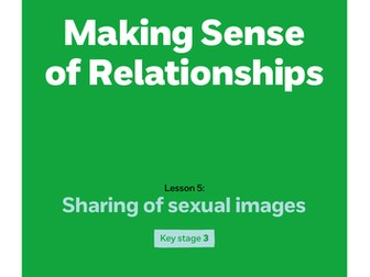 Key stage 3: Lesson plan 5 - Sharing sexual images