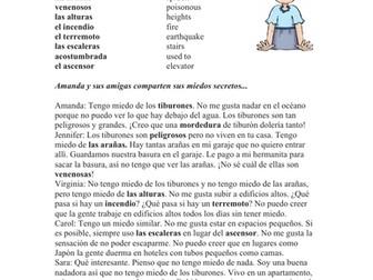 ¿De qué tienes miedo? Lectura: Spanish Reading What are You Afraid of? (tener)