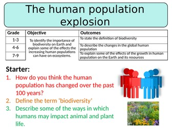 NEW AQA GCSE Trilogy (2016) Biology - The human population explosion