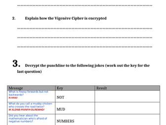 [IGCSE] Vigenere Cipher Tasks
