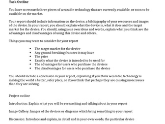 Wearable Technology Essay Research Tas