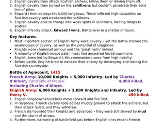 Edexcel GCSE (9-1) History: Warfare and British Society Case Studies - 1250-1900
