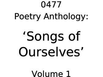 Cambridge IGCSE English Literature: 'Songs of Ourselves