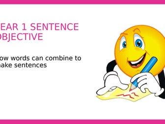 Year 1 SPAG PPT: How words combine to make sentences