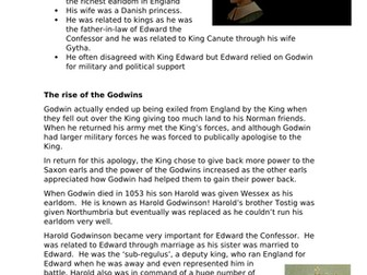 How was England ruled before 1066? Suitable for AQA 8145 Normans and KS3