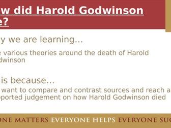 How did Harold Godwinson die?