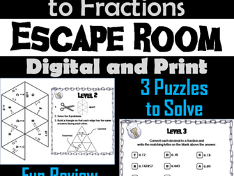 Repeating Decimals to Fractions Activity: Escape Room Math