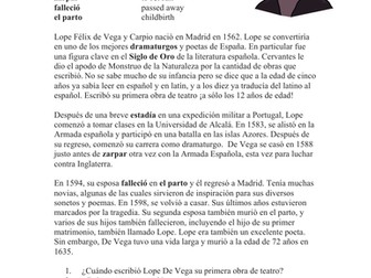 Lope de Vega Biografía: Biography of a Famous Spanish Poet
