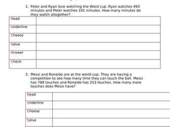 World cup 2018 Maths word problems