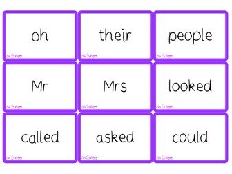 Phase 5 tricky word cards