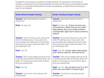 Teaching Thought Tracking
