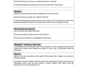 Text Analysis Questions