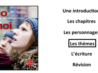 No et moi- Book Study- Themes/ les thèmes- A Level French