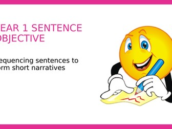 Year 1 SPAG PPT: Sequencing sentences to form short narratives