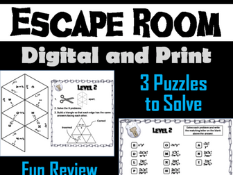 Negative Exponents Game: Escape Room Math Activity