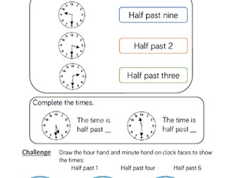 Y1 maths mastery planning and resources for White Rose Maths Summer Block 6 Time Week 2