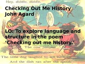 Checking out Me History John Agard fully annotated lesson AQA GCSE Literature paper 2