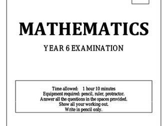 Year 6 'End of Year' Maths Test