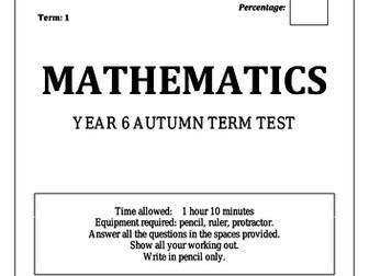 Year 6 Maths Tests!