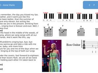 Music lead sheets