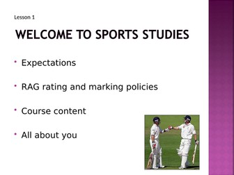 OCR National Certificate in Sports Studies R051 L01 powerpoint