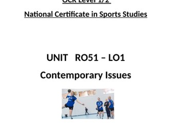 OCR National Certificate in Sports Studies R051 L01 Student booklet