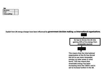 energy UK national international reduce sustainable gcse ks3 1-9 science geography