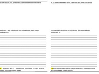 local national energy sustainable manage reduce consumption gcse ks3 1-9 science geography