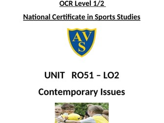 OCR National Certificate in Sports Studies R051 L02 Student booklet