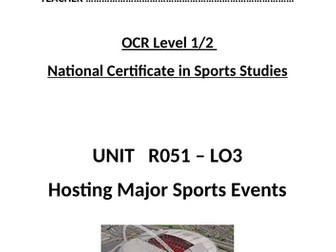 OCR National Certificate in Sports Studies R051 L03 - student booklet
