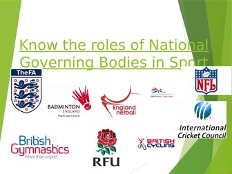 OCR National Certificate in Sports Studies R051 L04 - NGB's power point