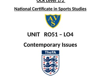 OCR National Certificate in Sports Studies R051 L04 student booklet