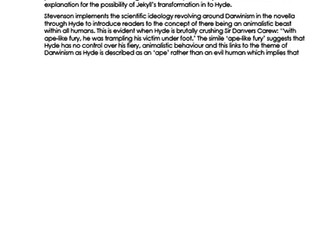 EXEMPLAR ESSAY on the theme of SCIENCE in 'Dr Jekyll and Mr Hyde' NEW 9-1 GCSE ENGLISH LITERATURE
