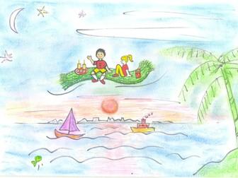Magic Carpet Ride - display picture, hand-drawn