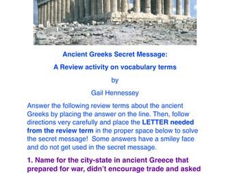 Ancient Greek Secret Message Activity!
