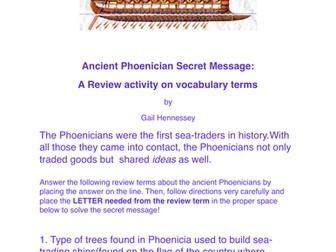 Phoenician Puzzler: Secret Message Review Activity