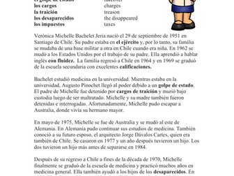 Michelle Bachelet Biografía: Spanish Biography on President of Chile