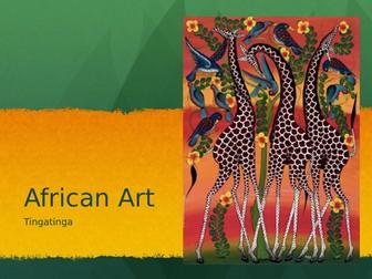 Tingatinga paintings