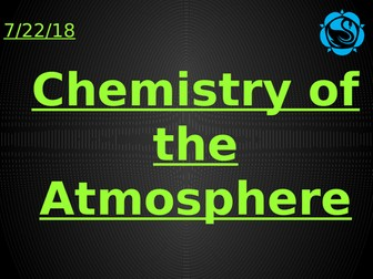 Chemistry of the Atmosphere AQA Trilogy