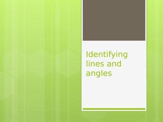 Lines and angles lesson