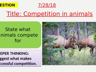 AQA new specification-Competition in animals-B15.4