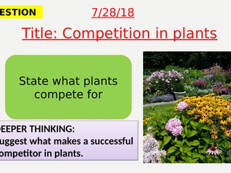 AQA new specification-Competition in plants-B15.5