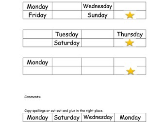 Days and Months. Time and Ordering for SEN, Early Years, Primary School