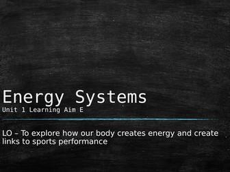Level 3 BTEC Sport Unit 1 - Energy Systems