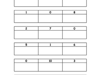 Ordering Numbers, biggest to smallest, or smallest to biggest for SEN, Early Years and Primary