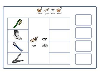 ASD  / Autism / SEN - Associations, workstation task
