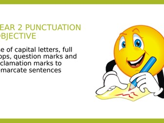 Year 2 SPAG PPT and Assessment: Demarcating Sentences