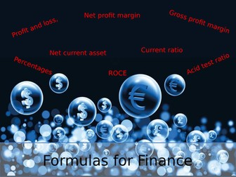 Business Studies Finance Formulas