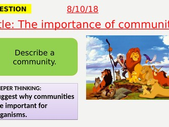 AQA new specification-The importance of communities-B16.1
