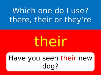 Their, They're or There? 3 x A4 posters